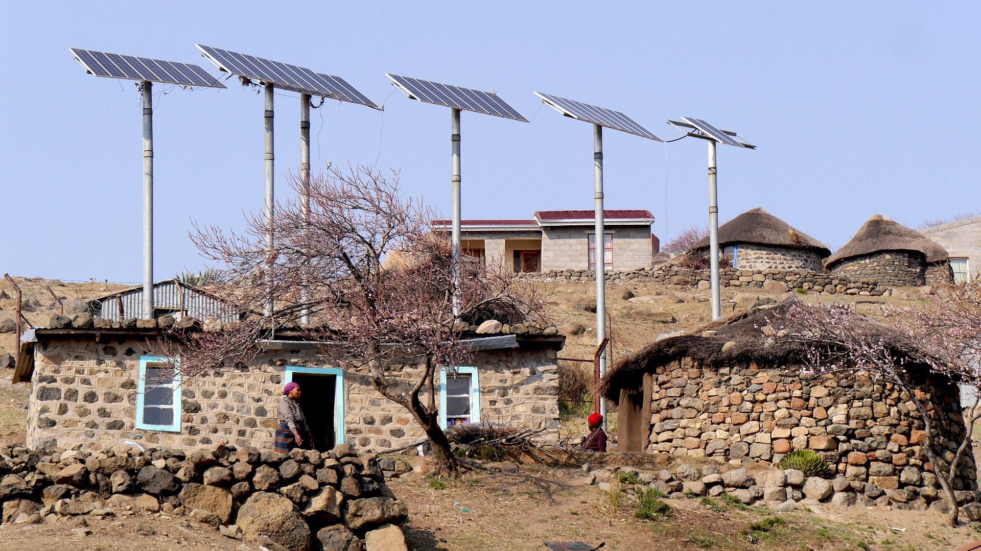Nutzung von Solarenergie in Lesotho