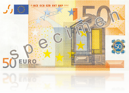 Der neue 50€-Schein (Quelle: EZB)