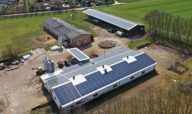 enen Solar II PV-Anlage Niederroßla Luftbild