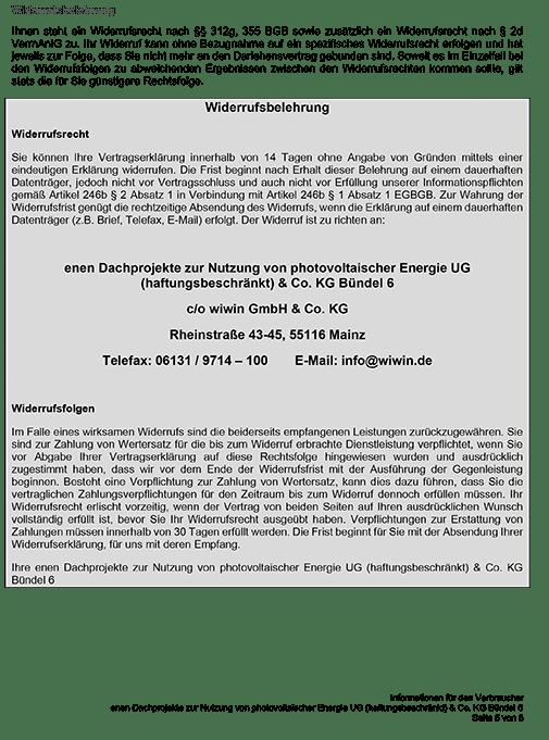 Enen Solar II - Verbraucher-Widerrufsbelehrung