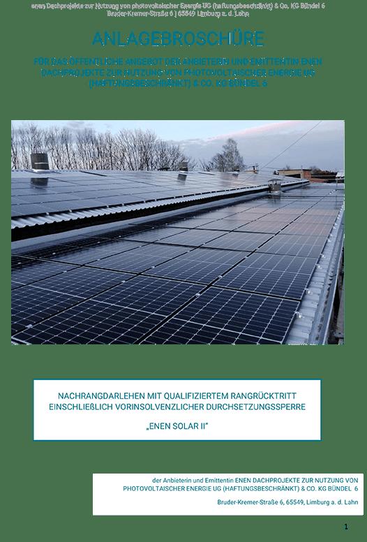Enen Solar II - Anlagebroschüre