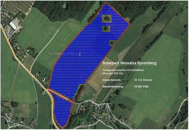 enen solar Projekt in Neusalza-Spremberg