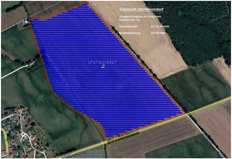 enen solar Projekt in Uhsmannsdorf